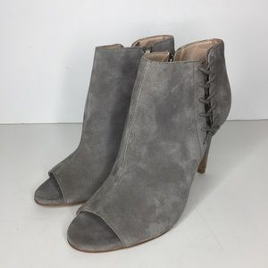 French Connection Quincy Suede Peep Toe Booties